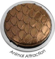 Quoins QMOT-BR Munt Animal attraction slangenleer bruin Large