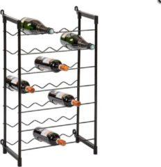 Zwarte Practo Home Flessenrek niet voorgemonteerd 35 flessen