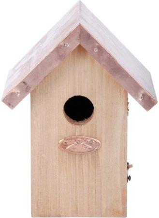 Afbeelding van Esschert design Esschert vogelhuisje - winterkoning koper - 11 x 145 x 20 cm - 1 ST