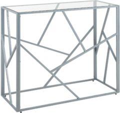 Beliani Sideboard glas zilver ORLAND