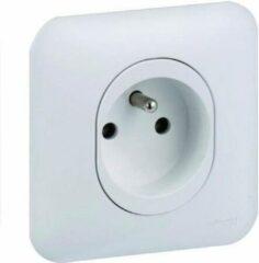 Witte SCHNEIDER ELEKTRISCH Stopcontact met aarde Ovalis compleet 230 V