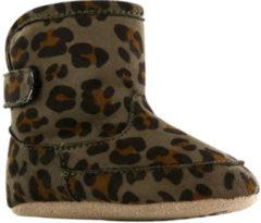 Shoesme babylaars-slofje met groene luipaardprint (BS9A002-E). Maat 18