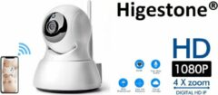 Witte Slimme HD Wifi Babyfoon | Met App | Luisteren en Terugpraten | Bewakingscamera | Babyfoon Met Camera | Babyphone WiFi | Higestone
