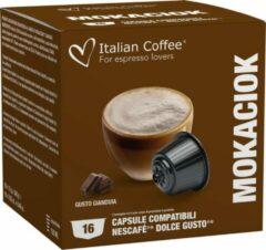Italian Coffee - Mokaciok (Cappuccino en Gianduja) - 16x stuks - Dolce Gusto compatibel