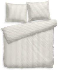 Gebroken-witte Refined Heckett & Lane Stripe - Dekbedovertrek - Tweepersoons - 200x200/220 cm + 2 kussenslopen 60x70 cm - Ivoor