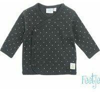 Antraciet-grijze Feetje! Jongens Shirt Lange Mouw - Maat 44 - Antraciet - Katoen/polyester/elasthan