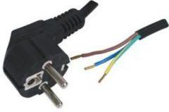 Kabeldirect Schuko apparaatsnoer 3x1mm2 met open einde 5m zwart