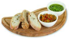 Witte Boska Chip & Dip Set - Serveerplank - voor Kaas Tapas en Sauzen - Eikenhout