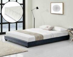 Corium Modern bedframe stof met matras 140x200 donkergrijs