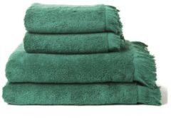 4-teiliges Handtuch-Set mit Fransenabschluss Casa di bassi smaragd