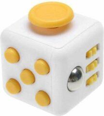 AWR Kwalitatieve Fidget Cube / FriemelKubus   Anti Stress Speelgoed   Fidget Toy - Wit-Geel