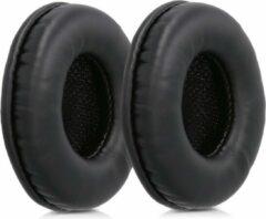 Kwmobile 2x oorkussens voor Sony MDR-V150 / V250 / V300 koptelefoons - imitatieleer - voor over-ear-koptelefoon - zwart