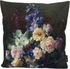 Groene Gek op Kussens! Flower Bouquet #2 Kussenhoes | Katoen / Linnen | 45 x 45 cm | Bloemen