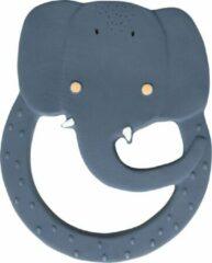 Blauwe Trixie - Ronde bijtring natuurlijk rubber - Mrs. Elephant