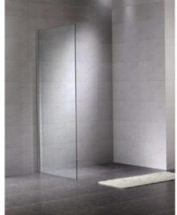Royal Plaza Adana zijwand 50x200cm voor walk in chroom profiel helder glas met Clean coating 56002