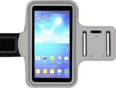ADEL Sportarmband 5.5 Inch Microfiber Hoesje voor Sony Xperia XA2 - Grijs