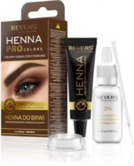Bruine REVERS® Eyebrow Henna Pro Colours Brown 15ml.+15ml.
