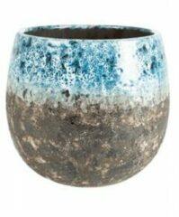 Lichtblauwe Ter Steege Pot Lindy Sky Blue blauwe ronde bloempot voor binnen 23 cm