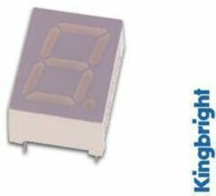 Groene 1-DIGIT DISPLAY 10mm GEMEENSCHAPPELIJKE ANODE GROEN - Kingbright