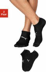 Zwarte Puma lichte sneakersokken (2 paar)