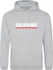 Grijze Subprime Hoodie Stripe Grey Hoodie Stripe Black Heren Hoodie Maat S