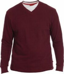 Bordeauxrode D555 BLISS Casual Heren Sweater Maat M