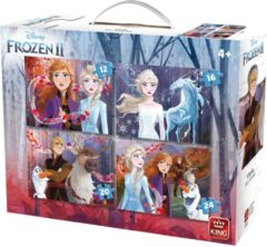 Disney 4in 1 Puzzel Frozen II - Vier Kinderpuzzels in een Koffertje - King