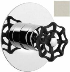 Reitano Rubinetteria Reitano Industry inbouw douche mengkraan 1-wegs nikkel/zwart