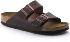Bruine Birkenstock Arizona Nubuck Habana smal Unisex Slippers – maat 37