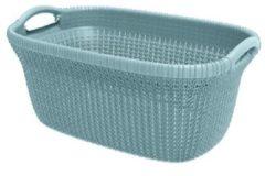 Blauwe Curver knit heupwasmand - 40 liter - misty blue