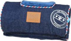 """Naturelkleurige """"Lief! comfort kussen voor houten hondenmand unisex jeans 30x15 cm"""""""