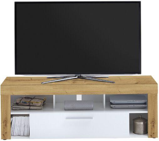 Afbeelding van FD Furniture Tv-meubel Raymond 150 cm breed in artisan eiken met wit