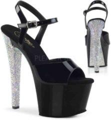 Pleaser Sandaal met enkelband, Paaldans schoenen -36 Shoes- SKY-308LG Paaldans schoenen Goudkleurig