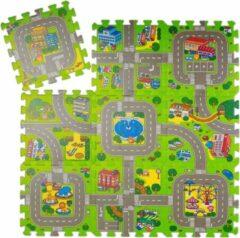 Relaxdays speelmat verkeer - puzzelmat - verkeerskleed - speelkleed - kruipmat - foam