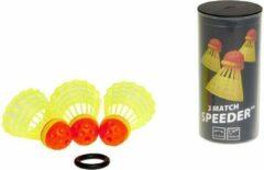 Gele Speedminton Match Speeders - 3 stuks - crossminton - speedbadminton