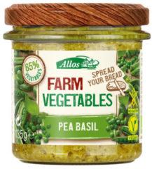 Allos Farm vegetables doperwten & basilicum 135 Gram