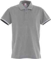 Grijze Clique Heren Poloshirt Maat 3XL