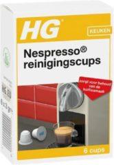 Witte HG reinigingscups voor Nespresso 6 x 6 stuks