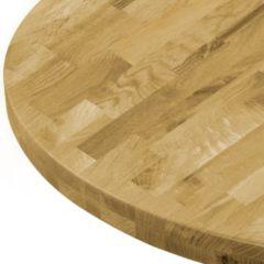 Transparante VidaXL Tafelblad rond 44 mm 600 mm massief eikenhout