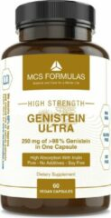 MCS Formulas Genistein Ultra, 250 mg / Capsule, No Additives - Pure Genesteïne (>98% purity)