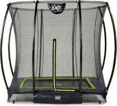 Exit in-ground trampoline Silhouette met veiligheidsnet 153x214cm zwart