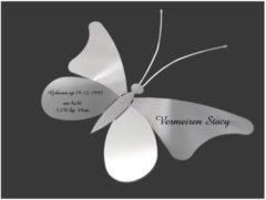 Roestvrijstalen Actual-laser bvba RVS vlinder voor geboorte