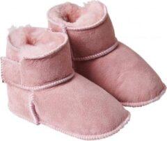 Roze Fellhof - Baby slofjes - Grijs - Maat 18-19