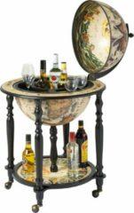 Brulo Wereldbol Globebar Lorentz Wijnrek - ⌀ 45 cm - Bruin - 5 flessen