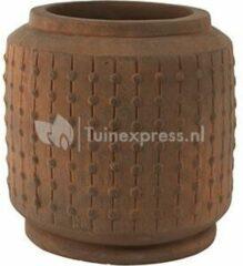 Bruine Ter Steege Pot Ralf cylinder rusty bloempot binnen 42 cm