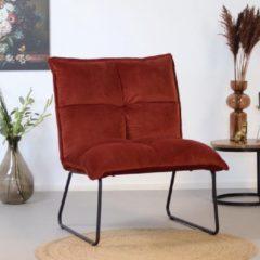 Bronx71 Moderne velvet fauteuil Malaga koper