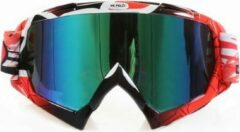 Improducts Skibril stoere luxe lens blauw evo frame zwart / rood N type 13 - ☀/☁