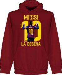 Retake Messi La Desena Hoodie - Donker Rood - XXL