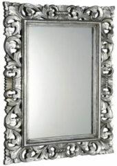 Sapho Scule barok spiegel met zilver omlijsting 70x100cm