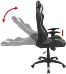 VidaXL Bureaustoel race-ontwerp verstelbaar kunstleer wit